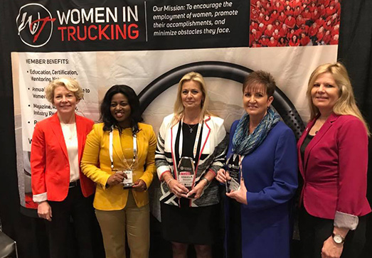 The 2019 Influential Woman in Trucking Award recognizes women who make or influence key decisions in a trucking business environment. Last year's winner wasAngela Eliacostas, founder and CEO, AGT Global Logistics.  - Photo via Women In Trucking