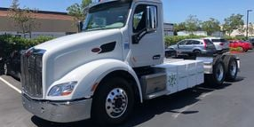 Behind the Wheel of an Electric Peterbilt Model 579