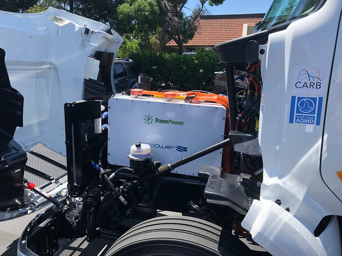 There's no Paccar MX diesel under the hood of the electric Model 579. Instead, that space is occupied by a large electric power converter and inverter that stores, manages and distributes power as needed while driving.