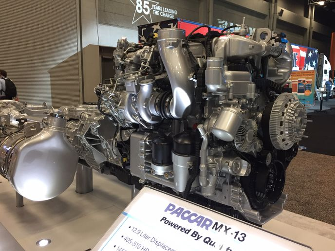 Peterbilt will offer the MX-13 with two new ratings for the 2019 model year engines; a multi-torque 455 HP version with a torque rating of 1,650 – 1,850 lb.-ft. and a 405 HP version with 1,650 lb.-ft. of torque.  - Photo: Deborah Lockridge