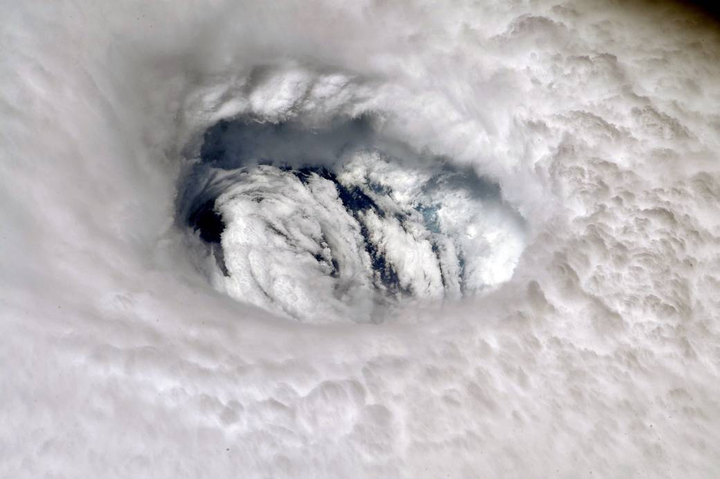 Hurricane Dorian has begun to move up the Atlantic coast, prompting the FMCSA to issue a regional emergency declaration in the region. Photo of the eye of Hurricane Dorian taken from the International Space Station.