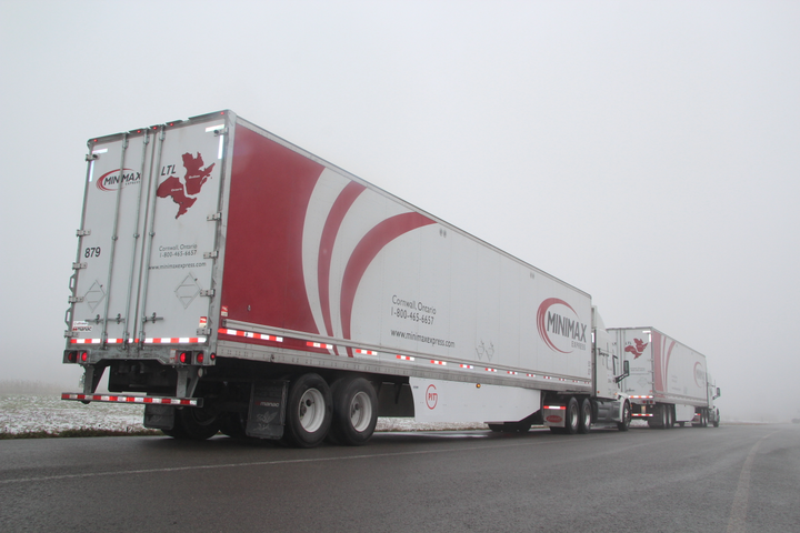 The PIT Group took part insuccessful highway platooning tests between October 29, and November 2, 2018,on highways around Montreal, La Tuque, Trois-Rivières and Blainville, Quebec.  - Photo: PIT Group