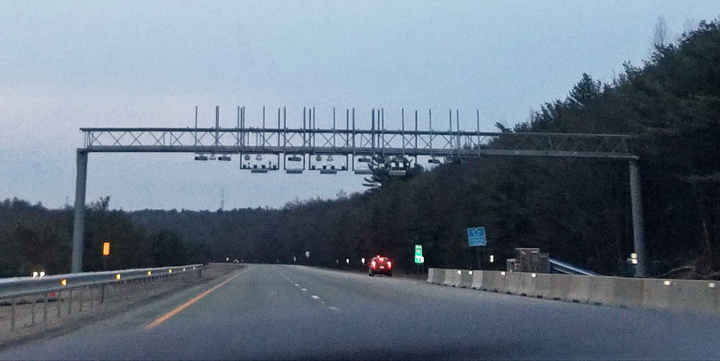 Rhode Island has two gantries tolling trucks only on I-95 and is plannning 10 more around the state.
