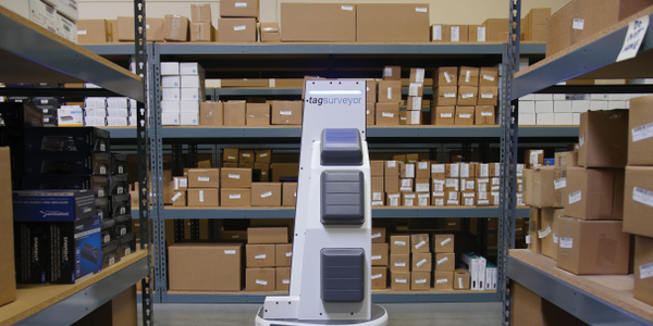 The Fetch Robotics TagSurveyor robots are performing automated cycle counting and reducing...