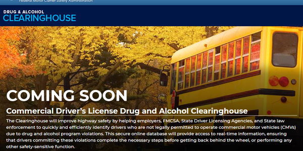 The FMCSA released new online resources regarding the upcoming implementation of its CDL Drug...