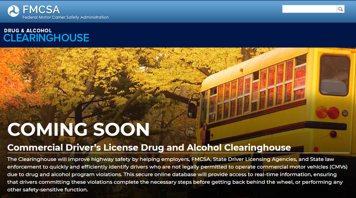 The FMCSA released new online resources regarding the upcoming implementation of its CDL Drug and Alcohol Clearinghouse for commercial vehicle industry stakeholders.