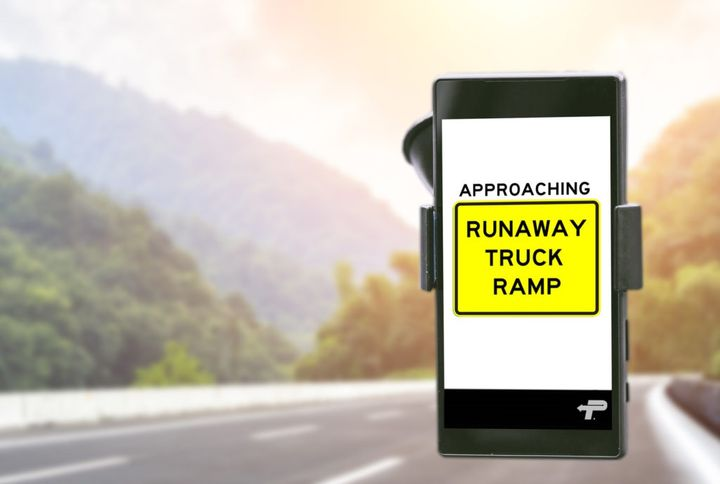 Alerts added to PrePass Motion include notification of upcoming runaway truck ramps along I-70.
