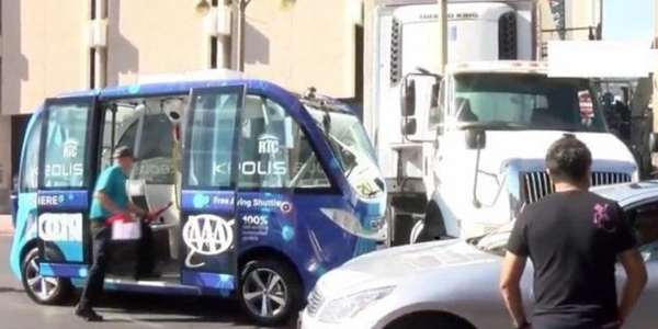 A unique case of miscommunication between a truck driver and a self-driving vehicle that led to...