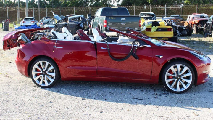 NTSB has determined that this Tesla Model 3 was under autonomous control when it struck a tractor-trailer, killing its driver.