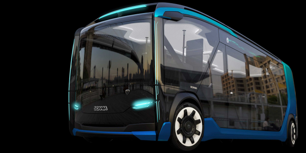 Scania's NXT concept vehicle features front and rear drive modules that can be fitted to a bus...
