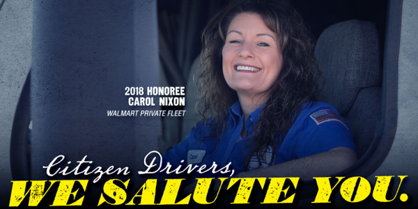 The Citizen Drivers program honors drivers who have evoked pubic respect for the truck driving...