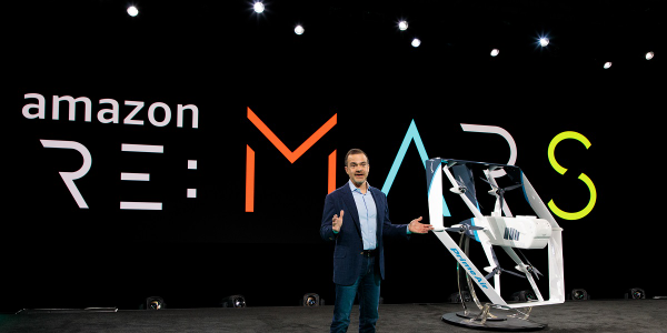 Amazon's latest drone design aims to be capable of delivering packages weighing up to five...