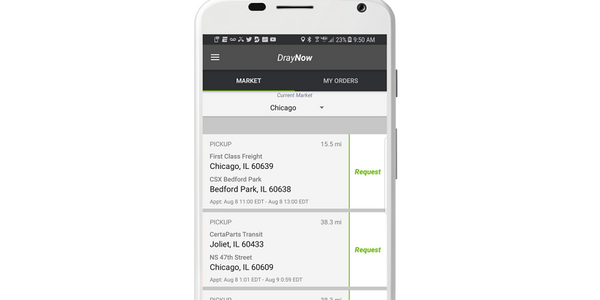 DrayNow's freight booking and tracking platform is focused on the shipping and logistics sector.