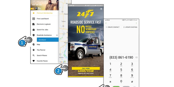 Trucker Path members can now access roadside service provided by GoodyearCommercial Tire &...