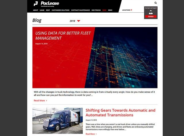 PacLease has launched a new blog for its customers.