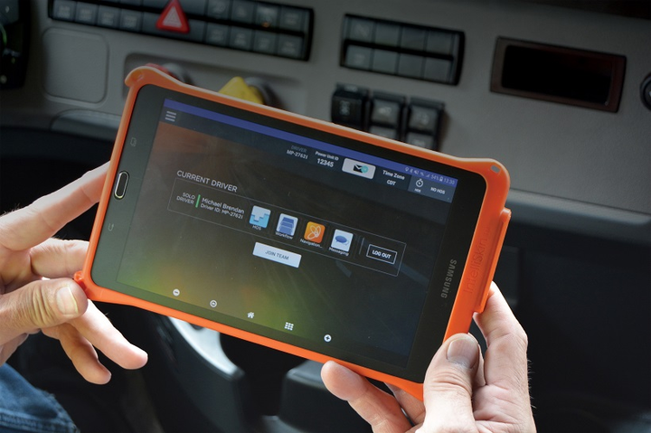 Schneider will hand out Samsung Galaxy tablets to its drivers to give them access to critical work information while in the field.  - Photo: Schneider