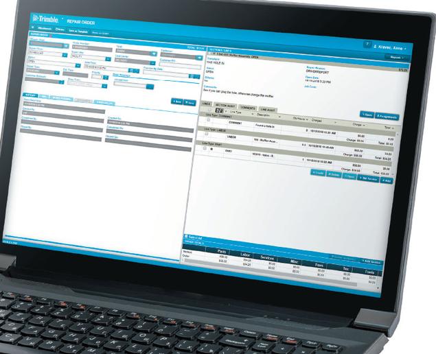 Trimble's new TMT ServiceConnect add-on module helps fleet shops using TMT Fleet Maintenance software connect to service providers.  - Image courtesy Trimble