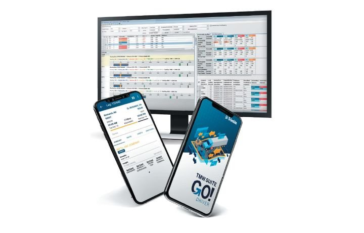 The cloud-hosted versions of TMW.Suite and TruckMate are offered as scalable, subscription-based platforms designed to fit fleets' precise needs and adapt as their business grows.  - Image courtesy Trimble