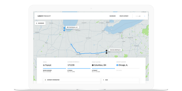 Uber Freight is opening up its freight matching platform to shippers.