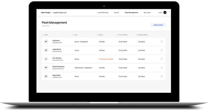 Uber Freight announced a new web portal and redesigned app that aims to streamline the booking experience for carriers of all sizes.  - Images courtesy Uber Freight
