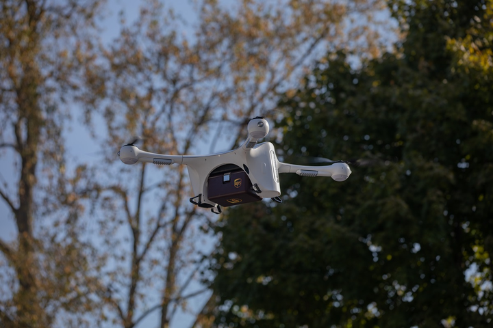 A new UPS subsidiary, UPS Flight Forward, has made the first-ever drone delivery flight under the FAA's Part 135 Standard to WakeMed's hospital campus in Raleigh, North Carolina.  - Photo courtesy UPS