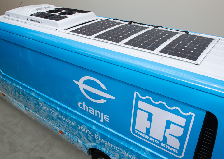 Thermo King says this prototype vehicle developed with electric van OEM Chanjepaves the way for the future of deliveries and sustainability in the transport industry.    - Photo: Thermo King