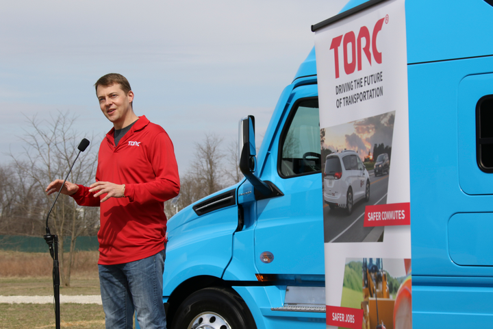 Torc Robotics CEO Michael Fleming thinks long haul fleets will be the first to adopt autonomous vehicle technology in a big way. 