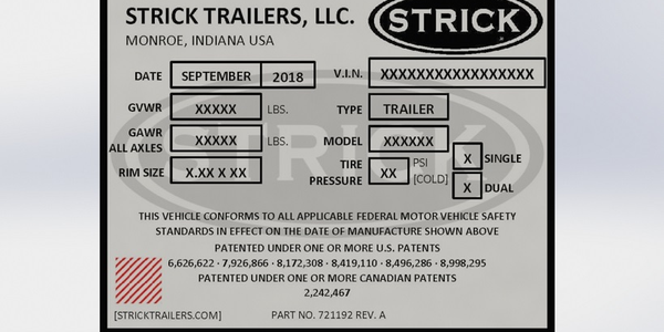 Strick Trailers is using QR codes on its VIN tags to help speed up the service process.