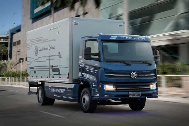 Traton's Brazilian-built Volkswagen Caminhões e Ônibus eTruck is slated to go on sale in South America next year.