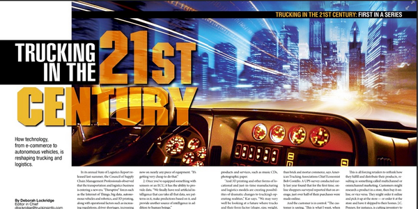 Heavy Duty Trucking magazine won a national Bronze Azbee award for its 10-part Trucking in the...