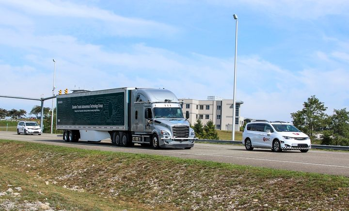 Daimler Trucks and Torc Robotics are actively developing and testing automated trucks with SAE Level 4 intent technology on public roads.