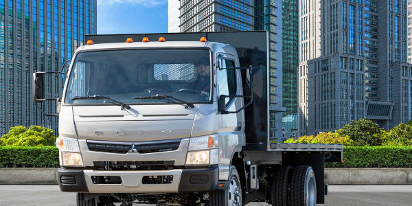 Mitsubishi Fuso Truck of America unveiled its new Fuso FE180 gasoline-powered cabover truck...