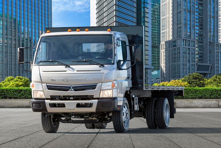 Mitsubishi Fuso Truck of America unveiled its new Fuso FE180 gasoline-powered cabover truck powered by a GM 6.0L V8 engine delivering 297 horsepower and 361 lb.-ft. of torque mated to acommercial-grade Allison 1000 Series transmission.  - Photo courtesy Mitsubishi Fuso Truck of America