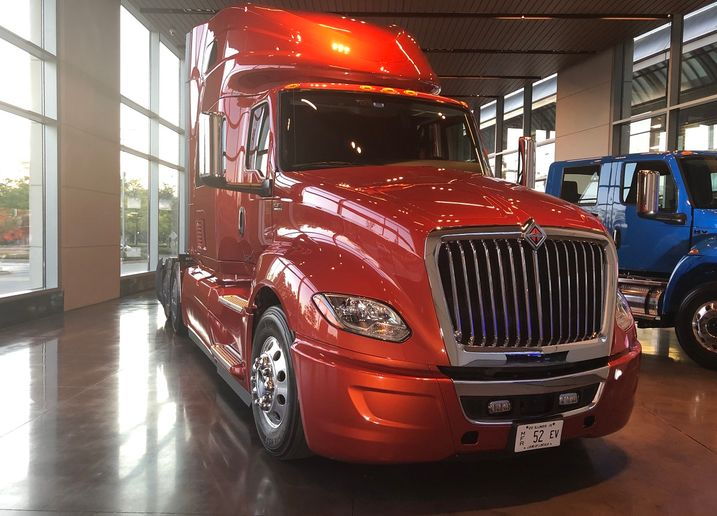 Navistar's plan, unveiled to investors at its Lisle, Illinois, headquarters (shown), includes building a $250 million truck assembly plant in San Antonio.