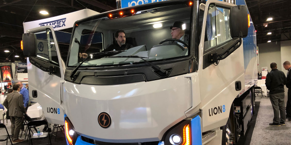 Lion's all-electric urban truck has a 250-mile range.