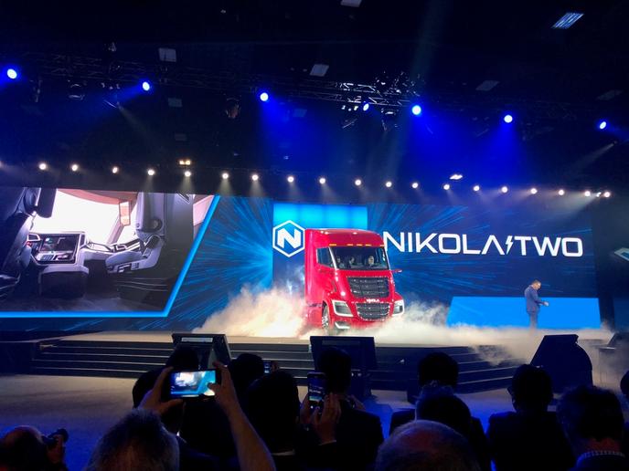 Nikola unveiled its Nikola Two truck at the Nikola World event in Scottsdale, Arizona.  - Photos: Jim Park