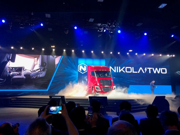 Nikola unveiled its Nikola Two truck at the Nikola World event in Scottsdale, Arizona. 