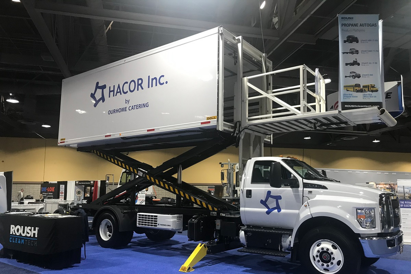 Hacor, an in-flight airline catering services provider, purchased seven Ford F-750 delivery...