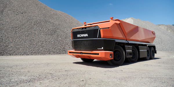 The Scania AXL is a concept for a truck so autonomous that it has  no need for a cab.