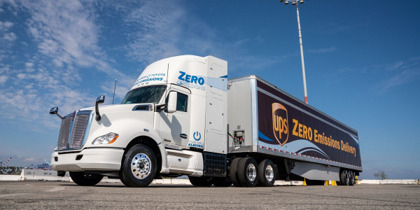 Toyota and Kenworth unveiled a jointly developed fuel cell electric heavy-duty truck, FCET, a...