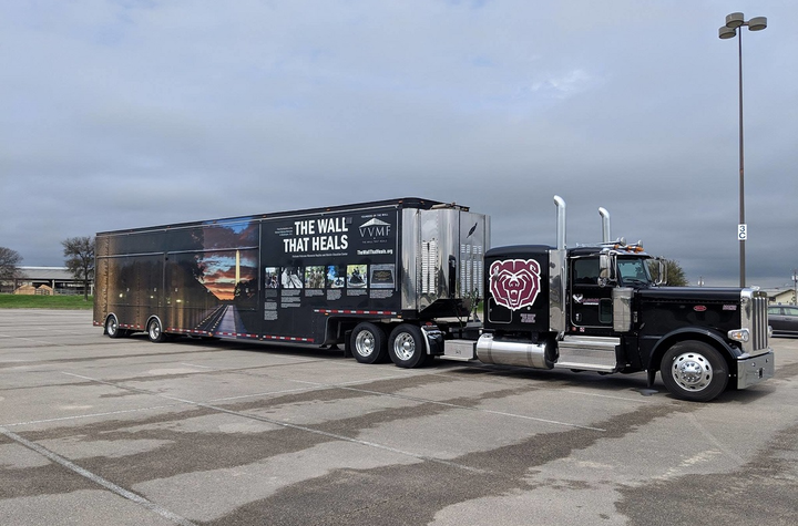 The VVMF and TCA needs drivers and trucking companies to volunteer to haul the mobile replica wall.  - Photo via VVMF