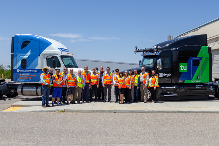 TuSimple has partnered with Pima Community College in Tucson to offer what it says is the industry's first educational curriculum focused on autonomous truck proficiency.