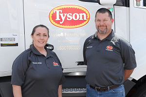 Tyson Foods has increased pay for its long-haul drivers to improve recruiting and retention.Photo: Tyson Foods