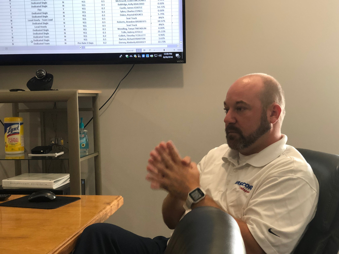 Chris DeRose, vice president of operations for Vascor Transportation, talks about leveraging Driveri to boost both safety and driver pay in the fleet's headquarters in Georgetown, Kentucky.