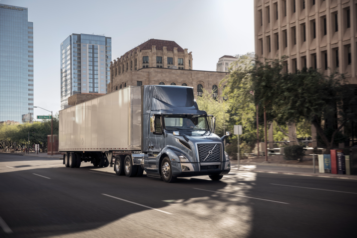 The Volvo VNL 300 day cab is now available with the newest version of the Cummins Westport ISX12N natural gas engine.  - Photo courtesy Volvo Trucks North America