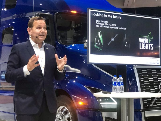 VTNA President Peter Voorhoeve said the rollout of the EVNR tractor will follow the company's ongoing testing of battery-electric trucks with two California-based fleets.  - Photo: David Cullen