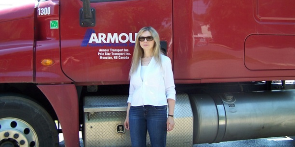 According to Omnitracs, women truck drivers are less agressive in traffic, safer, and less...