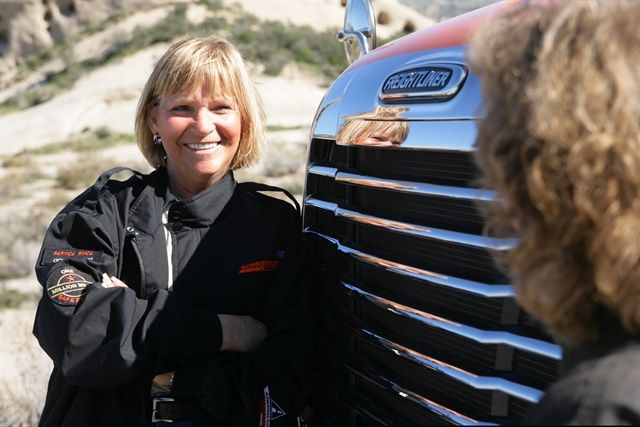 Women in Trucking reports more females in the ranks of drivers and management. Photo: Schneider