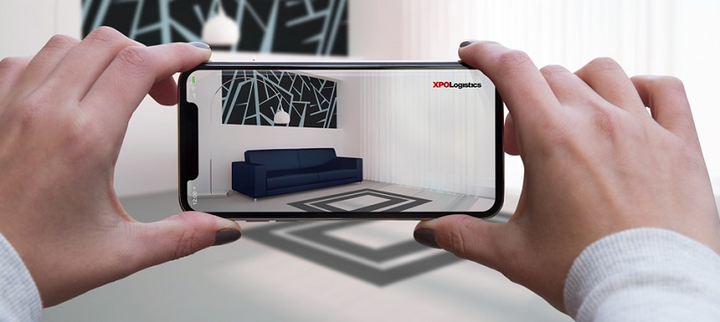 XPO Logistics plans to add augmented reality to the Ship XPO platform to help customers visualize heavy goods like furniture before they are delivered.  - Photo courtesy XPO Logistics