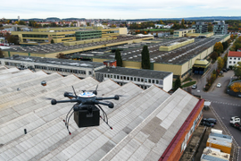 ZF Deploys Drones to Deliver Parts on Factory Grounds